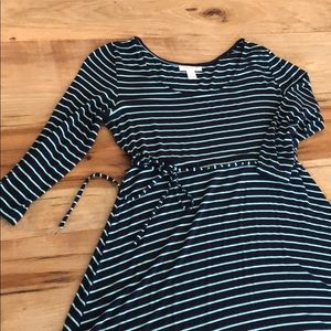 Maternity navy stripe dress